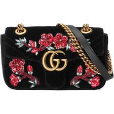 gucci 2017 bags. gucci gg marmont embroidered velvet mini bag 2017 bags