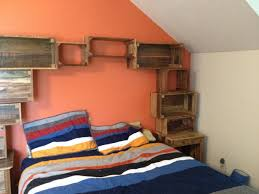 pallet bedroom furniture. Bedroom Shelving Built From Recycled Pallets Pallet Furniture