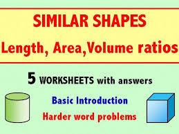 similar shapes length area volume ratios
