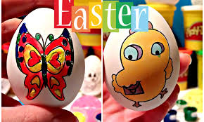 coloring easter eggs painting set egg hunt s for kids