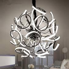 creative spherical chandelier new design modern led chandelier lamp silver hanging light dia 52 65cm dinning room living room chandelier chandelier shade