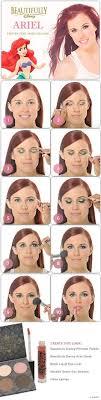 ariel step by steo makeup tutorial thelittlemermaid diy tutorial makeup
