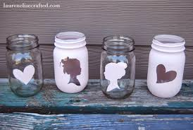 I love mason jars, they are a little piece of nostalgia. I have found  several unique ideas for mason jars. To make these awesome silhouette mason  jars, ...