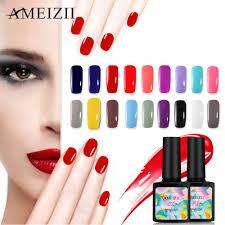 Ameizii Pur Couleur Uv Nail Gel Vernis à Ongles Art Design Manucure