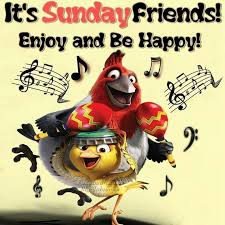 it s sunday friends enjoy and be happy