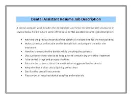 job description for a dentist orthodontic assistant resume orthodontic assistant resume resume for