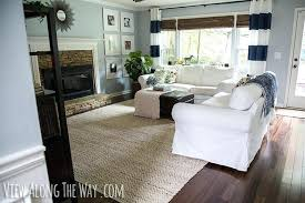 living room with jute chenille rug pottery barn color bound new call truce feet