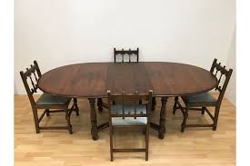 ercol vintage mid century 60s large colonial extending dining table and chairs photo 1