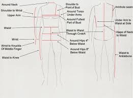 Waist To Knee Measurement Chart Jr Dance Design Measurement Guide