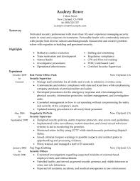 The resume examples below have been designed especially for security  supervisor jobs. Use these resume examples as a guide in building your own  successful ...