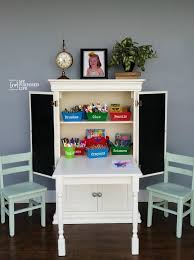 repurposed furniture for kids. My-repurposed-life-repurposed-armoire-kids-art-center- Repurposed Furniture For Kids E