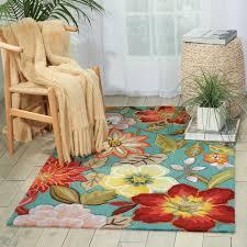 beach decor area rug tropical fl pattern aqua 5x8 area rugs coastal design