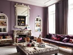 Decorate with dusty purple. Dusty-purple-living-room