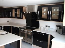 long cabinet handles in chrome finish for modern black painted kitchen cabinet hardware with white countertops