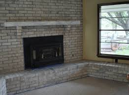 painted brick fireplace with grey paint color brick stone fireplace having grey wooden storage