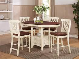 dark wood round counter height kitchen table and 4 chirs find pertaining to brilliant residence pub height table and chairs designs
