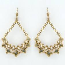 vintage style chandelier earrings la vie vintage chandelier earrings with pearls vintage french earrings vintage inspired