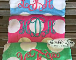 cool beach towels for girls. Monogrammed Beach Towel- Personalized Towels- Monogram Cool Towels For Girls N