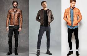 a staple look for any man looking to rock a brown leather jacket is the leather denim combo it s almost impossible to up with the exception of one