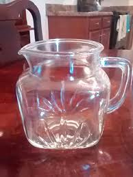 vintage federal clear glass pitcher star bottom sunburst for in clayton nc offerup