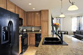 optimize minimalist concept with black kitchen design kitchen design black appliances with marble table and