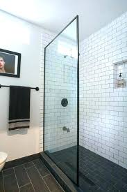 beveled subway tile shower tiles bathroom white bevel glass gray edge beveled subway tile shower