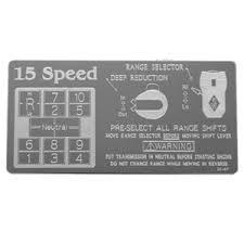 15 Speed Shift Pattern Adorable Rockwood Eaton Fuller Stainless Steel Shift Pattern Plate