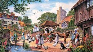 Village Painting Images Hd - 1600x900 ...