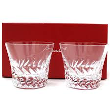 baccarat baccarat crystal glow rear pair tumbler glass glass clear crystal glass