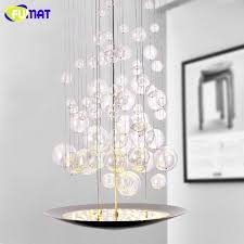hanging bubble light fixture stairs chandelier modern led fixtures designer hotel lamps dinning room glass bubble glass bathroom light
