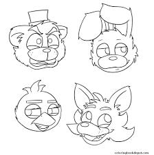 4 Fnaf Mangle Coloring Pages Free Printable 5 Futuramame