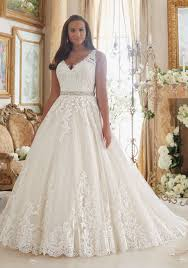 ball gown for plus size lace on tulle ball gown plus size wedding dress style 3208 morilee