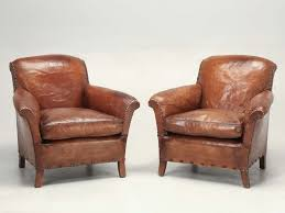 french art deco leather club chairs red