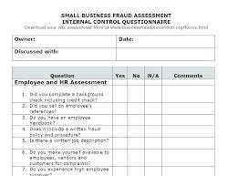 Sample Property Assessment Delectable Audit Risk Assessment Template