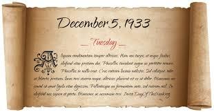 Image result for On December 5, 1933