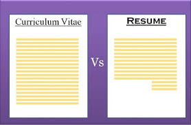 Resume Vs Curriculum Vitae Best Difference Between CV And Resume With Comparison Chart Key