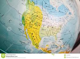 United States Map Of The World United States Map On A Globe Stock Image Image Of Country America