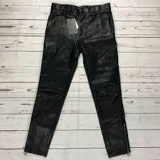 details about nwt zara man faux leather biker moto pants usa 30 skinny fit motorcycle eur 38