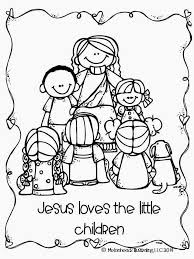 Jesus Loves The Little Children Coloring Page Wallpaper Coloring