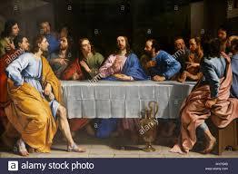 L Ultima Cena di Philippe de Champaigne dipinto intorno al 1652, il museo  del Louvre, Parigi, Francia, Europa Foto stock - Alamy