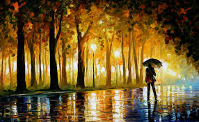 bewitched park palette knife oil painting art canvas leonid
