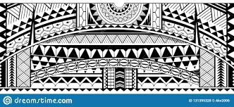 Tribal Tattoo Sleeve Ornament Stock Vector Illustration Of