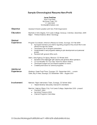 Examples Of Chronological Resumes Chronological Resume format Template  Eobmce Chronological format