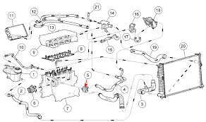 how to change thermostat on ford fusion engine and towards the passenger s side red arrow 5 in image below click view full image on the image above below to get a pop up window a