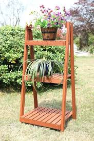 tiered garden planter 3 tier wood plant stand planter garden pot step ladder flower herbs vegetable tiered garden planter