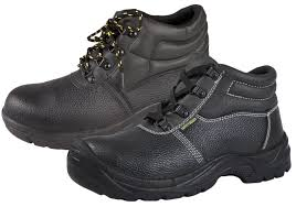 mens steel toe cap safety black leather ankle boots non slip work shoes size