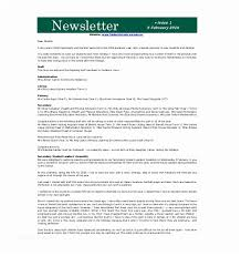 Free Newsletter Layout Templates Interesting Example Of A Newsletter 48 School Newsletter Templates Free Sample