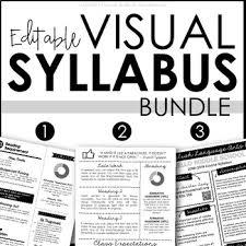 Visual Syllabus Templates Bundle Editable Creative Syllabus