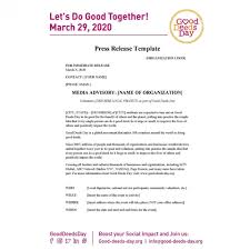 Press Release Format 2020 008 Event Press Release Template Ideas Staggering Charity