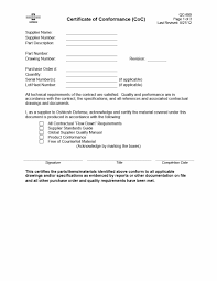 Certificate Of Compliance Template - Bombaynights.info
